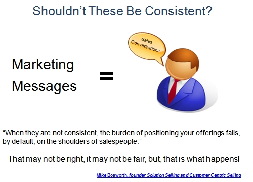 Consistent Sales Marketing Messages